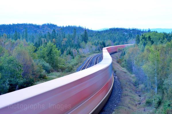 Train Shipping Cargo Across Canada