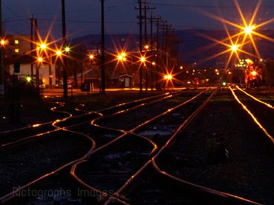 Illuminated Train Tracks