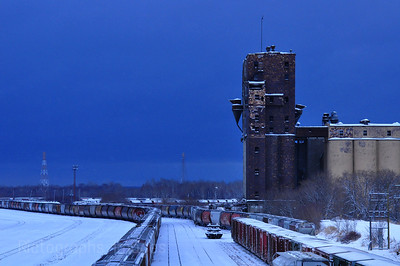 Winter,Railroad Yard
