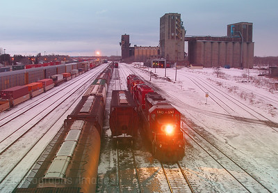 Winter Train Yard