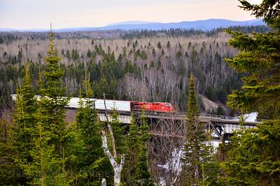 A Train Crossing The Trestle, 2017