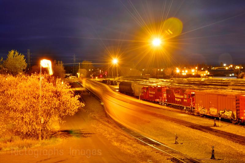 Trains & Tracks; Long Exposure Night Photography