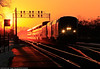Amtrak number 6 is lead thru Berwyn, IL on the BNSF Chicago subdivision by Amtrak # 72 in this sunset picture.