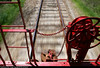 An attempt at something different while riding on a caboose at the Monticello Railroad Museum in Monticello, IL.
