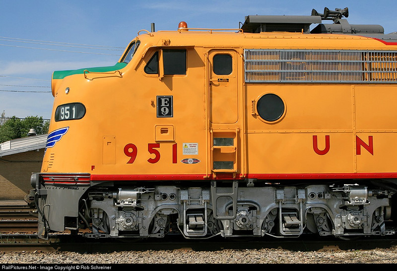 Union Pacific E9 at Franklin Park's railroad daze.