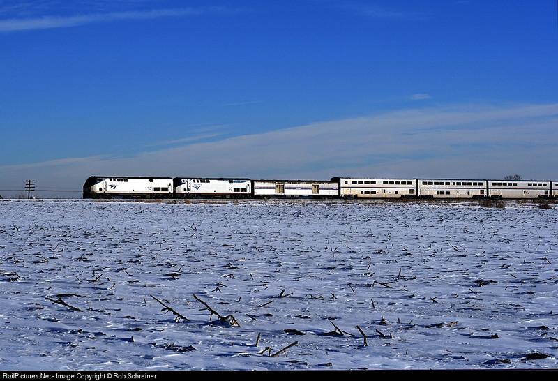 Amtrak's Empire Builder heads north thru Kenosha county.