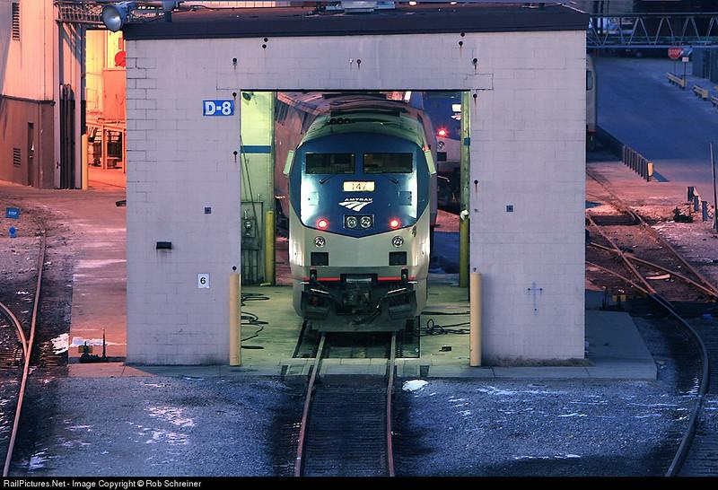 Amtrak's 18th ST. locomotive shops in Chicago.