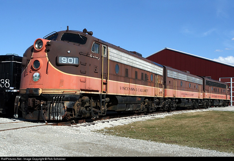 A-B-A set of f-units at the National Railroad Museum in Green Bay, WI.