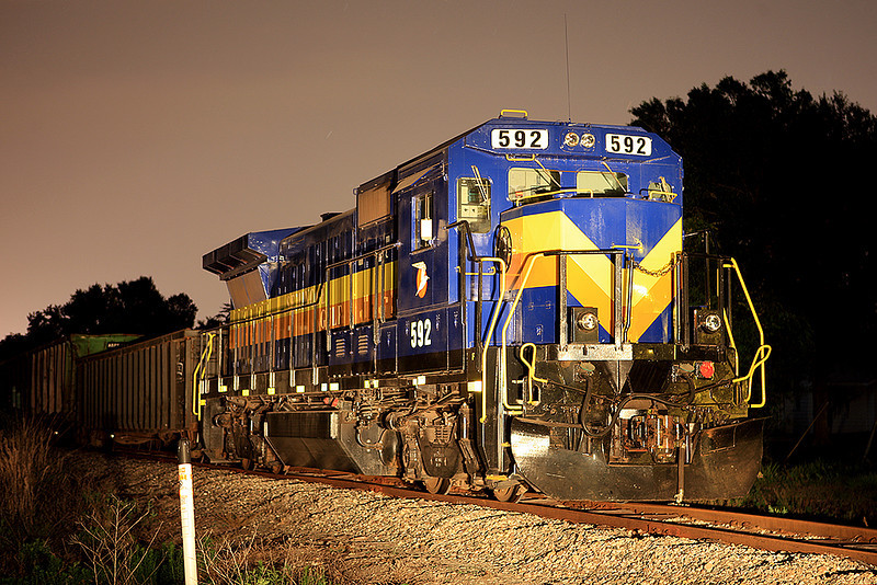 Night shot of the SGLR in Arcadia, FL.