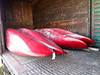 Canoes in boxcar on Polar Bear Express