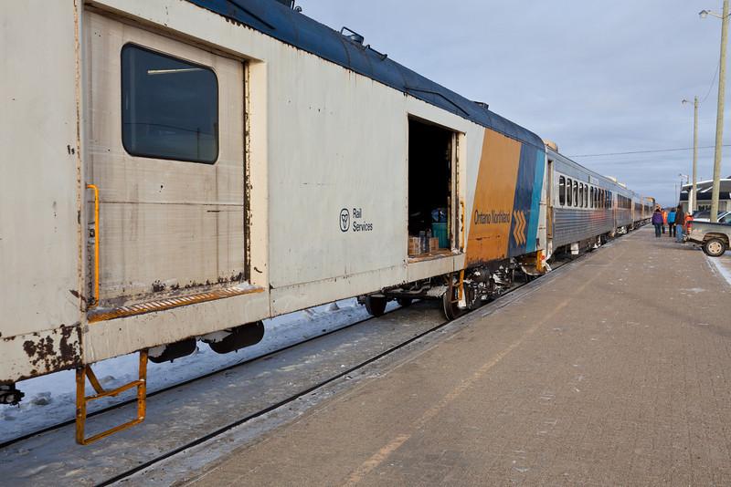 Ontario Northland Railway train the Polar Bear Express at Moosonee, Ontario 2010 December 3rd.