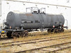 Ontario Northland Railway tankcar 1815 at Moosonee. Placard 1202 flammable liquid