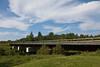 Ontario Northland Railway bridge over Store Creek in Moosonee, Ontario.