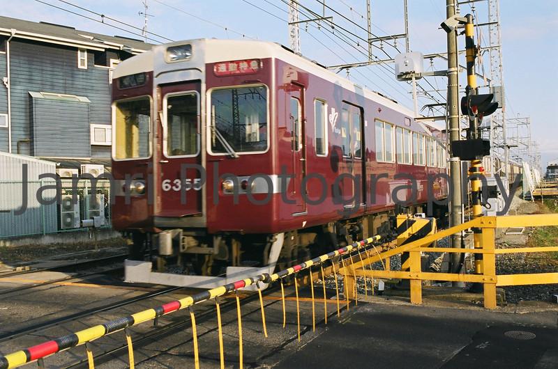Hankyu Railway Commuter Train, Nagaokakyo, Kyoto-fu, Japan<br /> Date Taken: 05/01/2009<br /> Equipment/Film Used: Nikon F80, Nikkor 35 f/2D lens, Fujicolour PRO400 (PN400N)