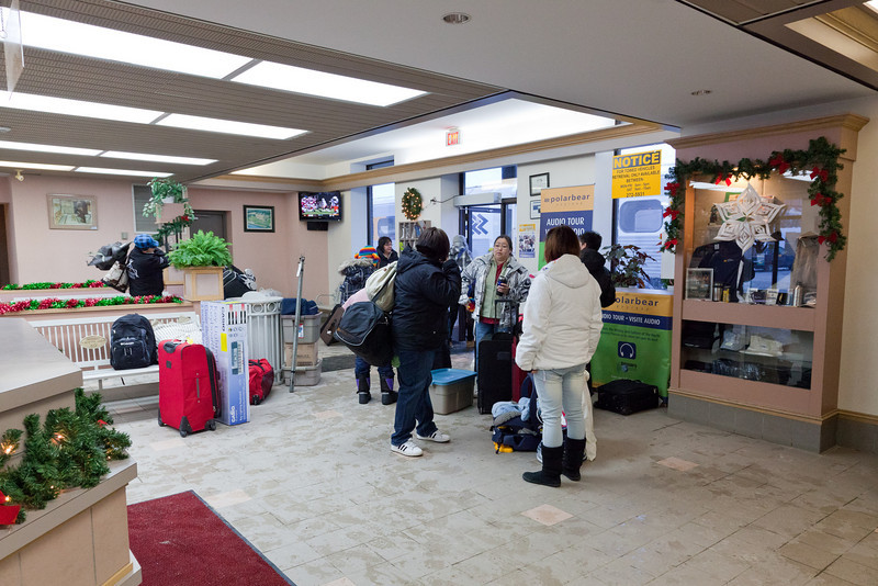 Cochrane 2010 December 21st. Station lobby.