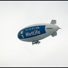The MetLife blimp added to our entertainment.
