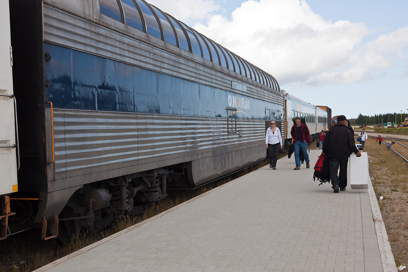 Last Polar Bear Express Excursion train of 2010 arrives in Moosonee August 27th. The train will lose some of its cars and continue in five day a week operation starting on August 30th.