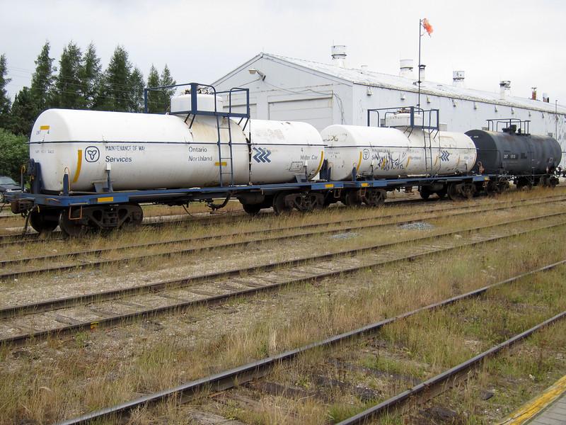 Ontario Northland Railway tank cars at Moosonee 2010 August 17
