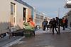 Moosonee station platform after arrival of the Polar Bear Express 2010 Dec 15th