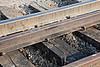 Sault Ste. Marie made 80 pound rail used as guard rail on approach to Store Creek rail bridge in Moosonee