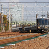 2 Commuter Trains, Nagaokakyo, Kyoto-fu, Japan<br /> The outer train is operating on a Special Rapid service, the inner train is operating on a Local service.
