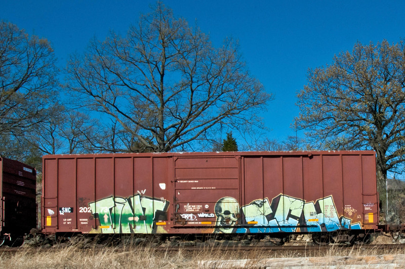 Train Grafiti goes the distance.