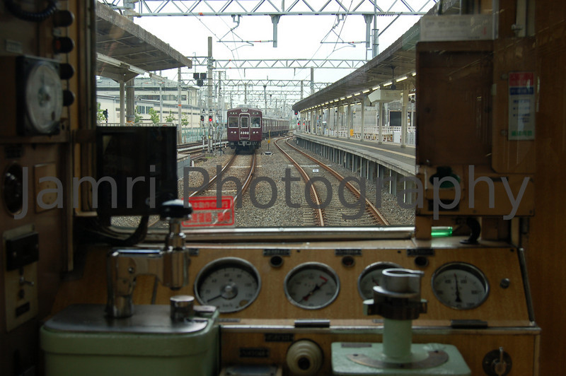 A driver's view on the Hankyu Trains, Kyoto, Japan