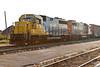 GP40-2 and GP38-2 1804 head freight into Cochrane.