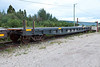 Ontario Northland Railway flatcar 100503 used in Polar Bear Express service to carry vehicles (chain car)