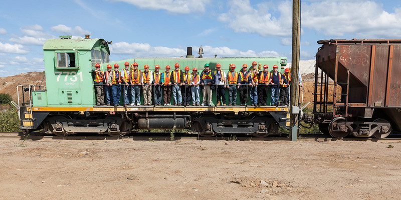 Visit to the Agrium Phosphate Mine near Kapuskasing. Group photos by Denise Metatawabin.