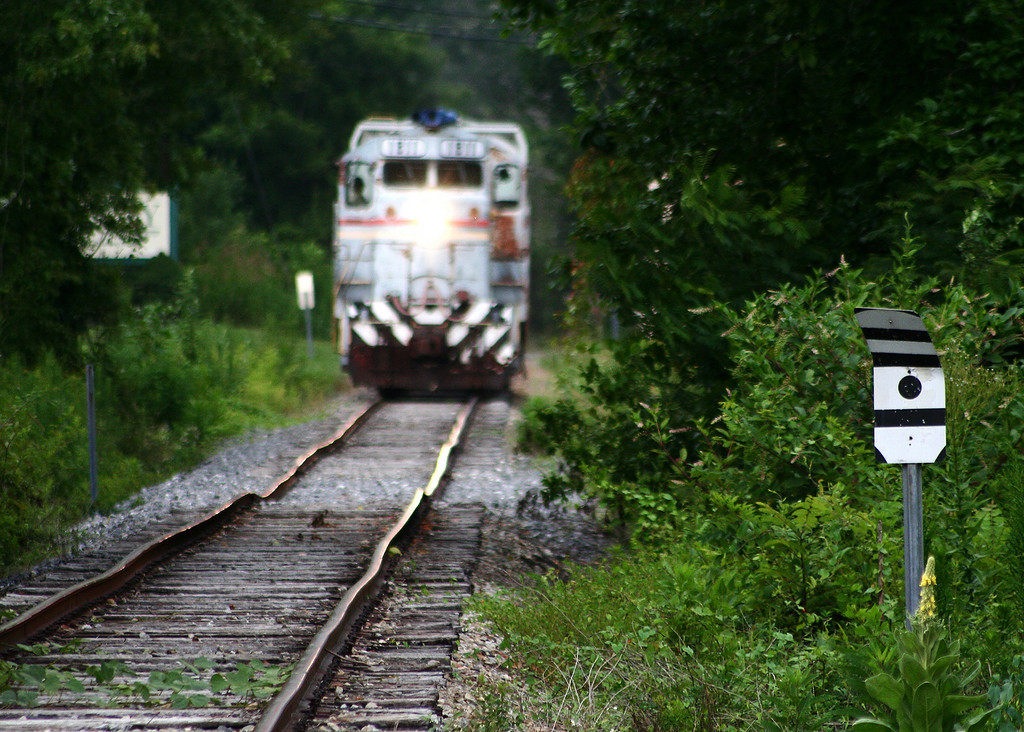 CWCY 1811 in Valmead, NC.  The track looks worse than it was, the use of a telephoto lens compressed the image to some extent.   This section of tracks unfortunately is no longer in use.