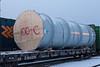 DWC 605308 with large cylinders for DeBeer's via Moosonee in Cochrane 2006 December 27th.