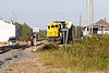 Freight heading south from Moosonee on a Friday evening. GP40-2 2200 and GP38-2 1805