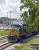 CSX 7662, GE C40-8W leads a mixed freight Northbound on the S-Line through Plant City, Florida