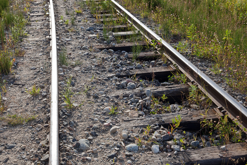 Ballast and track on wye.