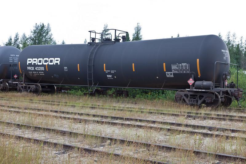 Tankcar, Procor, Prox 43288 at Moosonee.