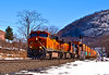 BNSF 7455 Northbound stacked threw Iona Island mile marker 41