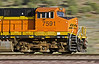BNSF 7591 leads a double stack container train near Peach Springs Arizona