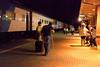 Polar Bear Express train arrived in Cochrane from Moosonee 2010 August 4th at 12:40 a.m. (having left Moosonee on the 3rd)