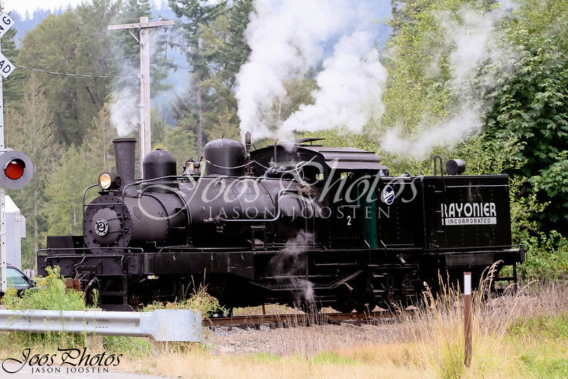 Steam Engine at a Railroad crossing
