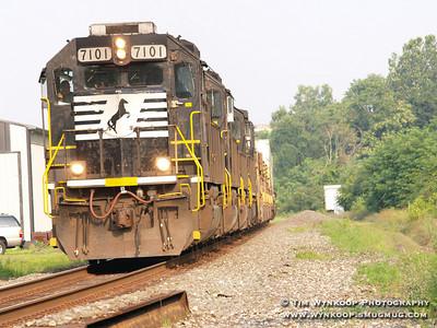 Norfolk Southern #7101, eastbound through Phillipsburg, NJ.