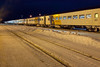 Polar Bear Express train being moved to coach yard by GP9 1601 in Cochrane. 2010 December 20th.