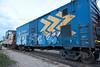 Boxcar 2597 as part of ballast train in Moosonee.