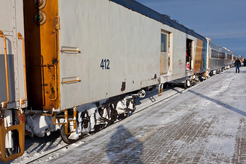 Polar Express arriving in Moosonee 2010 Dec 15th