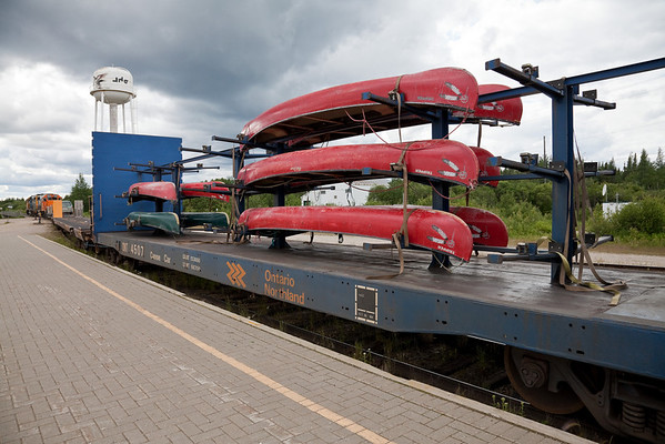 Image result for ontario northland canoe car