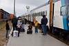 Platform after arrival of Polar Bear Express in Moosonee.