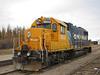 Ontario Northland Railway GP38-2 1802 at Moosonee on freight duty.