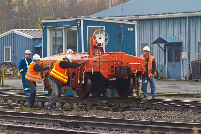 Working with scale car in Englehart. Scale car can be moved by manpower.