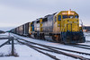 ONR 2200 and 2201 performing switching in Cochrane yard 2006 December 27