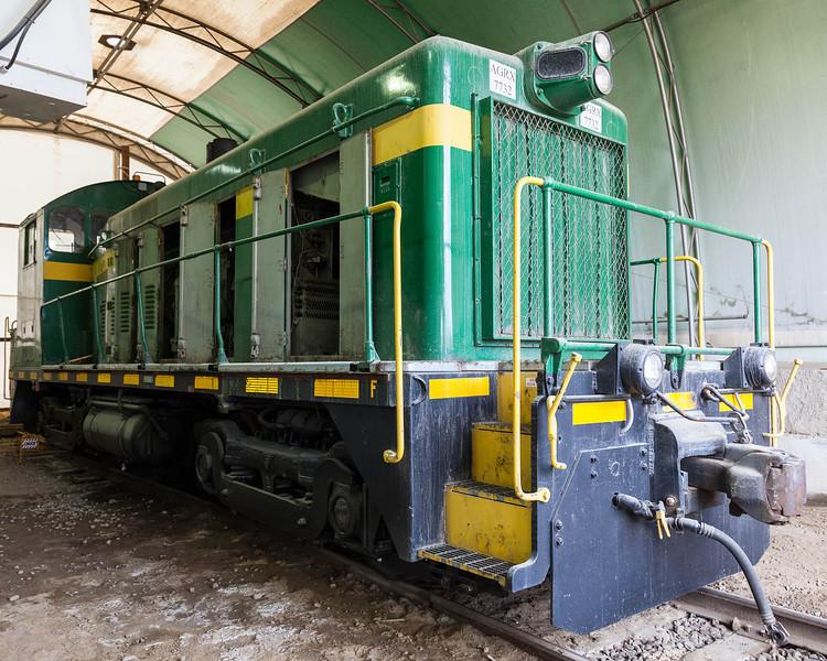 Visit to the Agrium Phosphate Mine near Kapuskasing. Locomotive 7732.